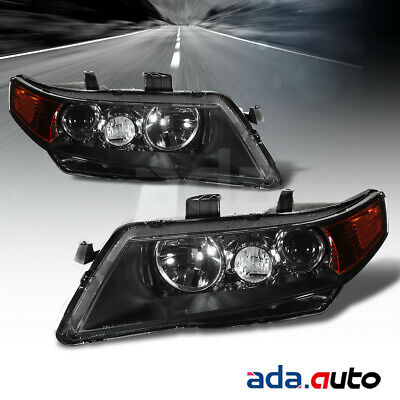 $114.99 • Buy 2004 2005 2006 2007 2008 Acura TSX Black Projector Amber Headlights Set