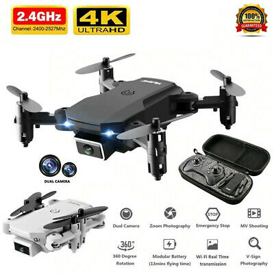 AU63.98 • Buy Mini RC Drone 4K HD Wide Angle Dual Camera WIFI FPV Foldable RC Quadcopter Gifts