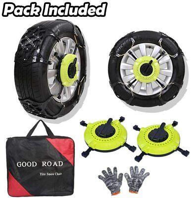 $25.19 • Buy Big Ant Snow Chain Anti-Skid Tire Snow Chains For Truck SUV Tire Chain Set Of 2