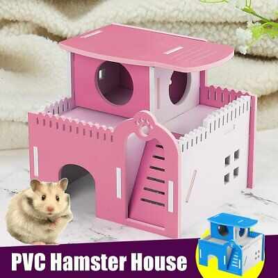 Hamster House Dual Layer Ladder Small Animal Pet Mouse Cage Castle   • 16.58£