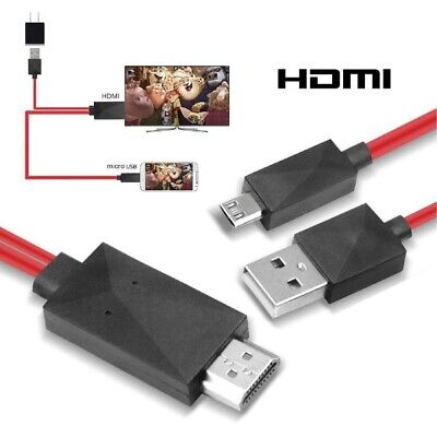 AU6.81 • Buy MHL Micro USB To HDMI 1080P HDTV Adapter Cable Cord For Android Phones Samsung