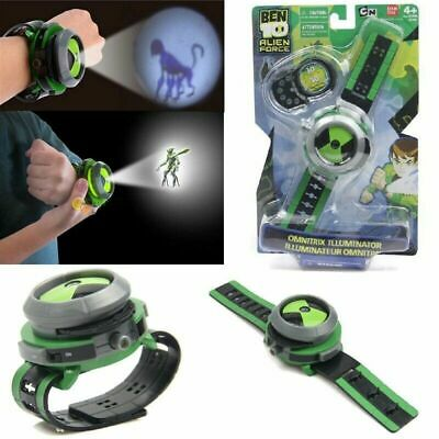 Omnitrix Watch BEN 10 Ten Projector Alien Force Illumintator Bracelet Kid's Toys • 7.35£