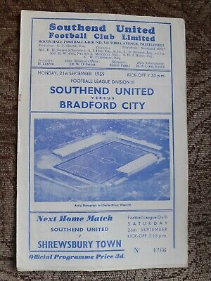 Southend United V Bradford City 1959/60 • 0.99£
