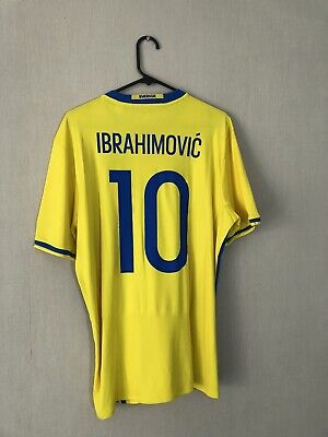 AU106.24 • Buy Ibrahimovic #10 Sweden Euro 2016 Home Large Football Shirt Jersey Adidas BNWT