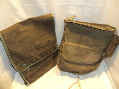 $24.95 • Buy Vintage Lot Of 2 US Military Canvas Bags M17A1 Gas Mask & Document Bags-SEE PICS