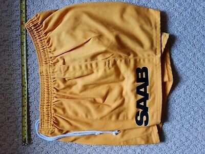 Rugby Shorts.  Burned Yellow,  SAAB , No.10, Made By Kooga In Size 30w. • 9.50£