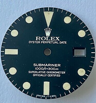 $ CDN1831.21 • Buy ROLEX VINTAGE GENUINE SUBMARINER WATCH DIAL 16800 TRANSITIONAL 1000ft=300 27.36m