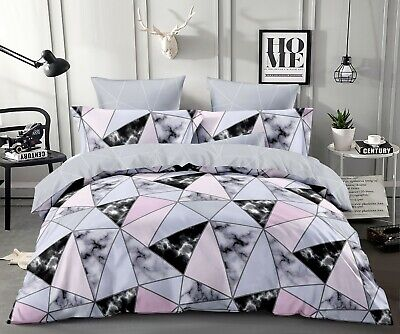 AU35 • Buy All Size Bed Ultra Soft Quilt Duvet Doona Cover Set Bedding Pillowcase Marble