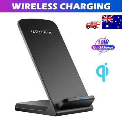AU17.49 • Buy Fast Wireless Charger 10W Charging Stand Dock For Samsung S21 S9 Note9 IPhone 11