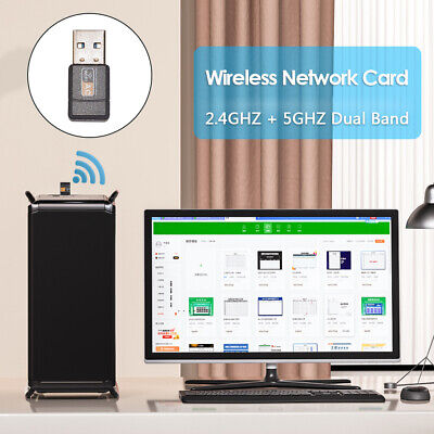 AU11.99 • Buy 600Mbps USB 2.0 WiFi Adapter Receiver Dual 2.4/5GHz Wireless Dongle Network Card