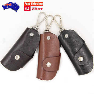 AU9.60 • Buy Fashion Genuine Leather Car Key Case Holder Pouch Men Wallet AU STOCK