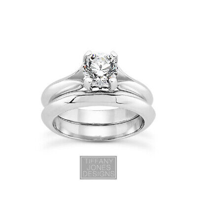AU4259.23 • Buy 1/2 CT E VS2 Round Cut Earth Mined Certified Diamond Plat Engagement Ring Set