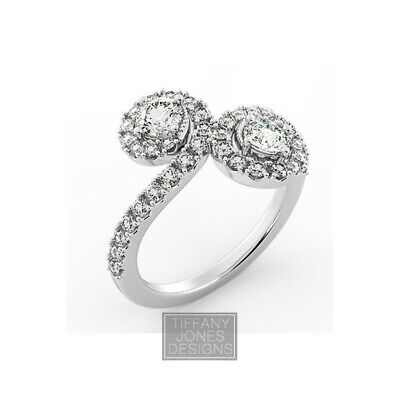 AU3978.24 • Buy 1.84ct F-SI2 Round Earth Mined Certified Diamonds 950 PL. Halo Engagement Ring
