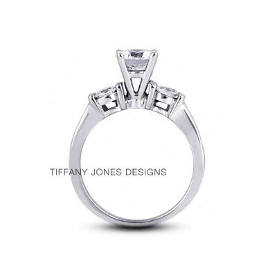 AU3756.41 • Buy 1 3/4ct H SI2 Round Natural Certified Diamonds 950 PL. Classic Engagement Ring
