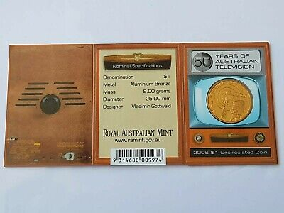 AU1.25 • Buy 2006 $1 UNC 50 Year Of Australian The Television 1 Dollar Coin C Mintmark