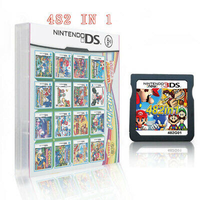 UK 482 In 1 Video Game Cartridge Card For Super Mario Nintendo NDS NDSI 2DS 3DS • 12.99£