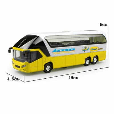 $ CDN21.20 • Buy 1/32 Double Decker Bus Car Model With Lights Sound Pull Back Vehicles Kids Toy
