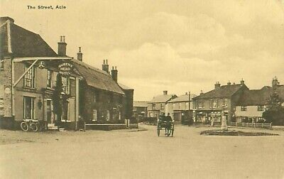 Pc The Street Acle Queens Head Hotel Norfolk Horse & Cart  Posted  • 3£
