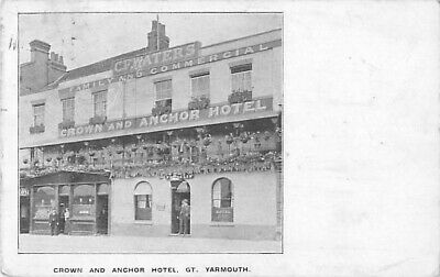 Pc Crown And Anchor Gt Yarmouth Norfolk  Posted 1910 • 5£