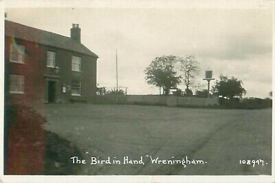 R/p The Bird In Hand Wrenigham Norfolk  Real Photo Public House Posted 1933 • 5£