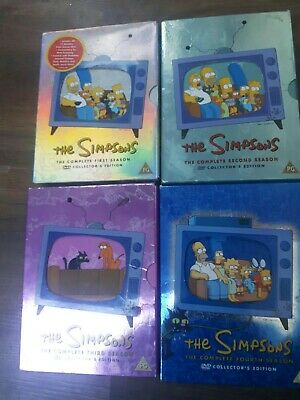 The Simpsons DVD Box Sets - Series 1-4 • 3.99£