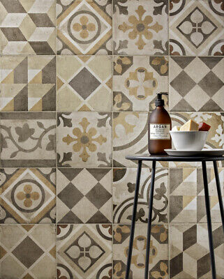 £32.99 • Buy 1m2 Hereford Ambra Mix Pattern Rustic Porcelain Floor Wall Tiles 20 X 20cm SALE