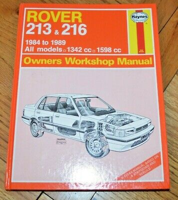 Rover 213 And 216 Haynes Owners Workshop Manual For Service And Repair • 4.99£
