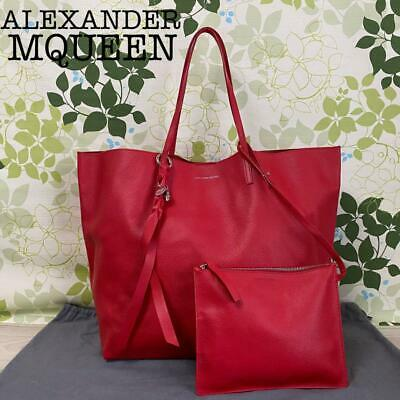 AU684.27 • Buy Alexander McQueen Authentic Leather Tote Bag Red Used From Japan