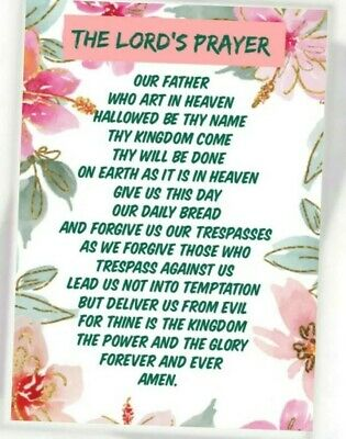 Sale 3 X  The Lords Prayer   Keepsake Wallet Purse Cards + Free Gift Bags  • 1.79£