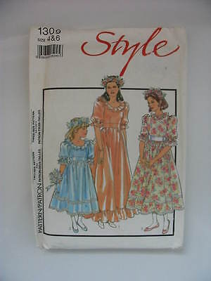 Vintage 80s UNCUT Sewing Pattern – Girls Bridesmaid / Party Dress – 2 Sizes • 7.99£