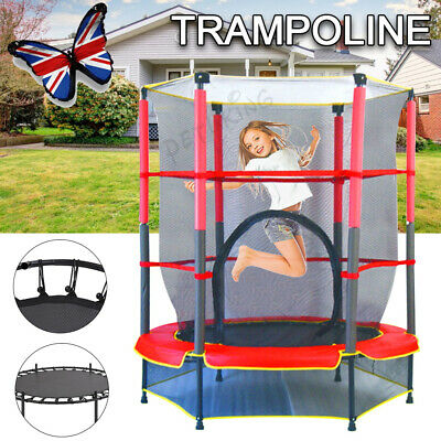 AU94.90 • Buy 4.5FT Kids Round Trampoline Junior Gift Pad Cover Enclosure Safety Net Jumping