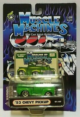AU5.08 • Buy Muscle Machines '53 Chevy Pickup Green 01-07 1:64 1/64
