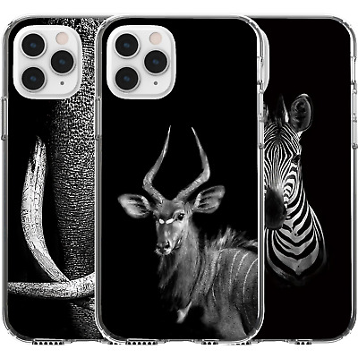 AU16.95 • Buy Silicone Cover Case Animal Nature Earth Life Cute Elephant Ibex Zebra Wild