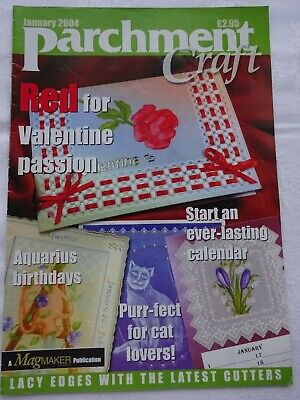 Parchment Craft  Magazine / Pattern Book    January  2004 • 1.75£