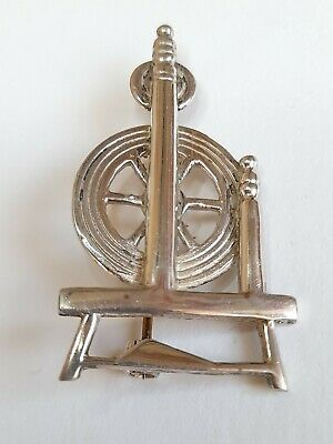 Ola Gorie Spinning Wheel Brooch. Sterling Silver • 17.99£