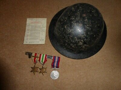 WW2  War Medals And Pith Helmet. • 36.50£