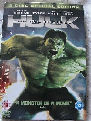 The Incredible Hulk - Steelbook - 2 Disc Special Edition DVD (FREE P&P) • 5.99£