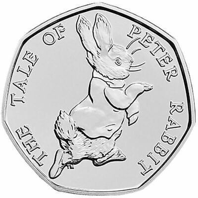 Beatrix Potter The Tale Of Peter Rabbit 50 Pence Coin 2017 • 1.85£