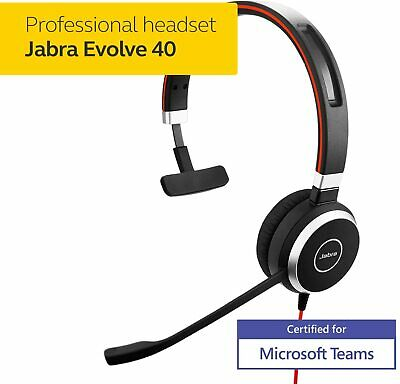 **BRAND NEW** Jabra Evolve 40 Headset Call Centre Zoom Skype USB MS Link Control • 39.99£