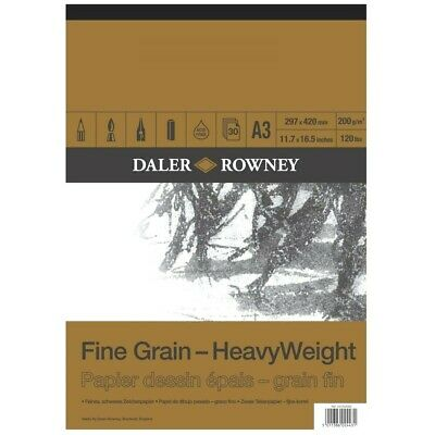 Daler Rowney A3 Fine Grain Cartridge Pad 200gsm 30 Sheets • 14.87£