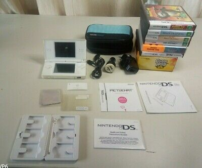 AU90 • Buy Nintendo Ds Lite With Soft Case Wall & Car Charger,7 Games Guitar Hero Etc