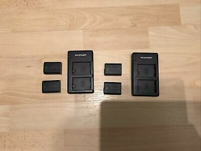 SONY NP-FW50 Sony A7 Batteries 4x Batteries 2x Charging Docks • 29.99£