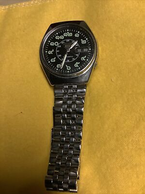 $ CDN114.35 • Buy Seiko 5 Automatic Black Face Thai Numbers Vintage Watch