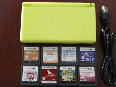 AU125 • Buy Nintendo DS Lite Lime Green Console -incl 8x Games-incl Usb Charger-Free Post