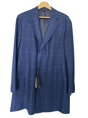 AU111.23 • Buy Massimo Dutti New Men's Premium Wool Blue Coat Size: XL