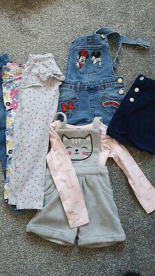 Girls Clothes Bundle Dungarees Leggings Skirt 3-4 Years George • 0.99£