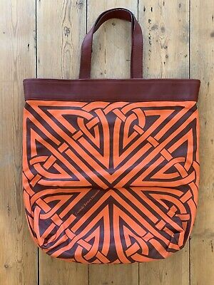Coccinelle X Barbara Hullaniki Biba Tote Bag Leather And Canvas Never Used • 70£