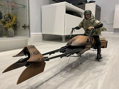 "Star Wars 1/6 12"" Scale Speeder Bike For Hot Toys & Sideshow Figures • 59.99£"