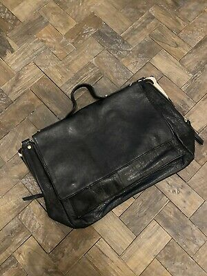 Topshop Pony Skin Real Black Leather Bag Holdall Satchell  • 15£