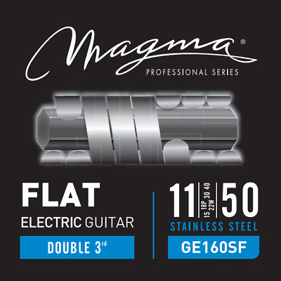 $ CDN15.68 • Buy Magma Electric Guitar Strings Light Gauge FLAT Stainless Steel Set, .011 - .050